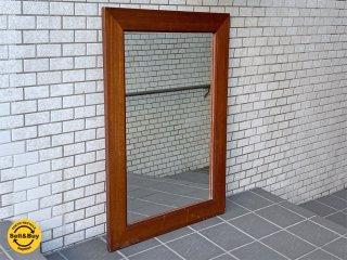US ビンテージ ウォールミラー ウッドフレーム アメリカ 壁掛け 鏡 ■