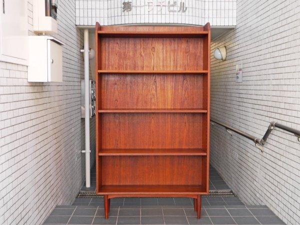 デンマーク ビンテージ Danish vintage チーク材 ブックシェルフ 飾り棚 北欧家具 ■