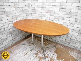 アクタス ACTUS オウン OWN ビッグサイドテーブル オーバル ダイニングテーブル ウォールナット天板 ●