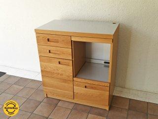 ウニコ unico ヒュッテ HUTTE キッチンカウンター W800 オープンタイプ ( キッチンボード 作業台 レンジボード ) 定価:¥87,780- 収納家具 ◇