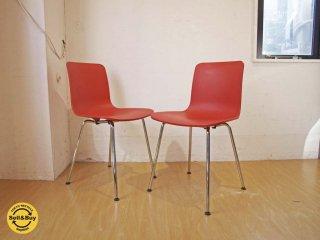 ヴィトラ Vitra ハル チューブチェア HAL Tube Chair オレンジ カフェチェア 2脚セット ジャスパー・モリソン ★