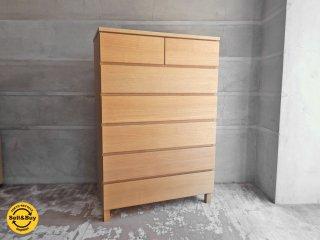 無印良品 MUJI 木製チェスト 6段 タモ材 ナチュラル ♪