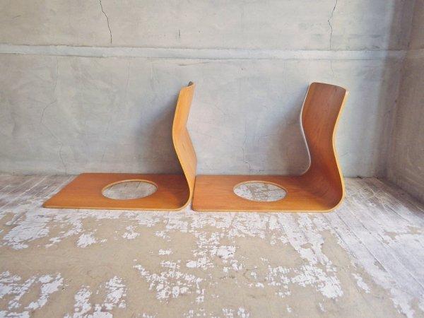天童木工 TENDO 座椅子 ケヤキ プライウッド 2脚セット 藤森健次 ♪