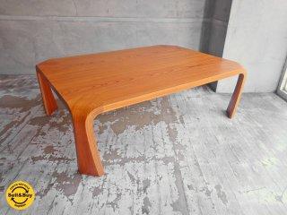 天童木工 Tendo プライウッド 座卓 ローテーブル ケヤキ材 乾三郎デザイン W106 cm♪