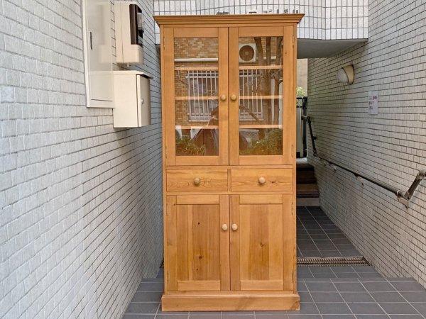 ペニーワイズ THE PENNY WISE パイン材 モノキャビネット カップボード 食器棚 飾り棚 UKカントリー 英国 ■