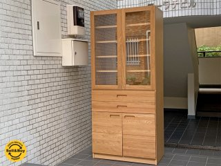 ウニコ unico ヒュッテ HUTTE カップボード 食器棚 オーク材 無垢材 ナチュラル ■