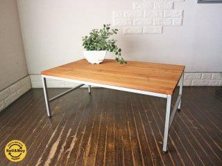 ジャーナルスタンダードファニチャー×ディーボディ journal standard furniture × d-Bodhi 古材×アイアン センターテーブル ローテーブル 無垢材 工業系 ◎