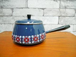 北欧ビンテージ 蓋付き 片手鍋 ソースパン ●