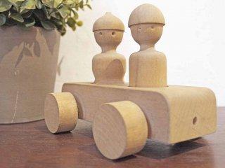 カイボイスン Kay Bojesen トイカー toy car 2人乗り 車 木製オブジェ デンマーク ヴィンテージ ★