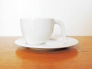 アラビア ARABIA エゴ Ego コーヒー カップ&ソーサー C&S ホワイト ステファン・リンドフォース 廃番 ●