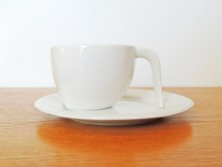 イッタラ iittala エゴ Ego コーヒー カップ&ソーサー C&S ホワイト ステファン・リンドフォース 廃番 ●