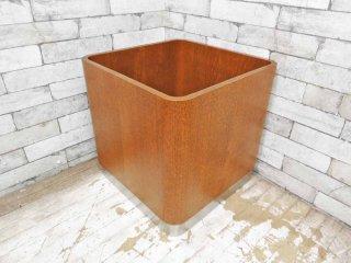 天童木工 TENDO プランターカバー 鉢植え ビンテージ チーク材 プライウッド ステンレス ●