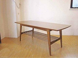 カリモク60 karimoku60 リビングテーブル Lサイズ ウォールナットカラー デコラトップ センターテーブル 幅119cm ミッドセンチュリーデザイン ★