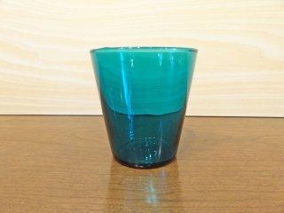 ヌータヤルヴィ Nuutajarvi カイ・フランク Kaj Franck フィンランド ビンテージ カルティオ Kartio #5027 タンブラー グラス ターコイズ ◇