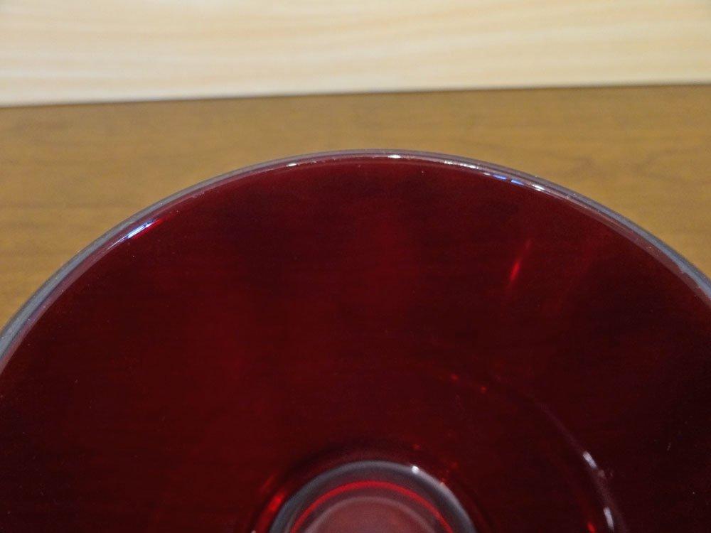 ヌータヤルヴィ Nuutajarvi カイ・フランク Kaj Franck フィンランド ビンテージ カルティオ Kartio #5027 タンブラー グラス レッド ◇