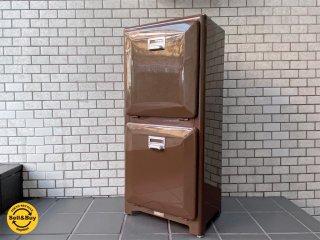 ダルトン DULTON ダブルデッカー DOUBLE DECKER トラッシュカン ブラウン ダストボックス  ゴミ箱 分別 2段 アメリカンスタイル  ■