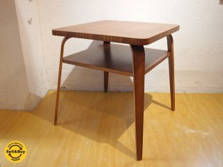 US vintage カフェテーブル サイドテーブル ソファーテーブル プライウッドレッグ ★