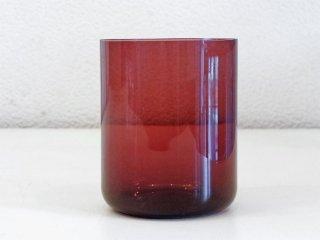 レイミューラ Reijmyre マンボ Mambo ビンテージ ガラスタンブラー パープル 1950-60s スウェーデン シリンダー グラス 北欧ガラス ◇