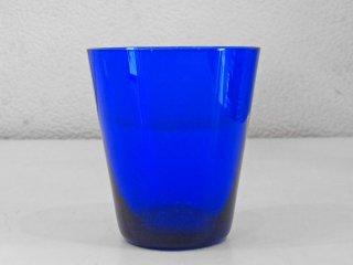 レイミューラ Reijmyre マンボ Mambo ビンテージ ガラスタンブラー ブルー 1950-60s  スウェーデン グラス 北欧ガラス ◇