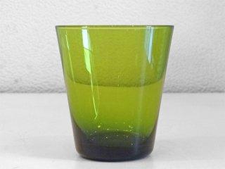 レイミューラ Reijmyre マンボ Mambo ビンテージ ガラスタンブラー イエローグリーン 1950-60s  スウェーデン グラス 北欧ガラス ◇