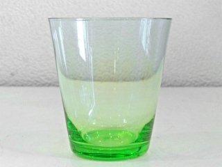 レイミューラ Reijmyre マンボ Mambo ビンテージ ガラスタンブラー クリアグリーン 1950-60s  スウェーデン グラス 北欧ガラス ◇