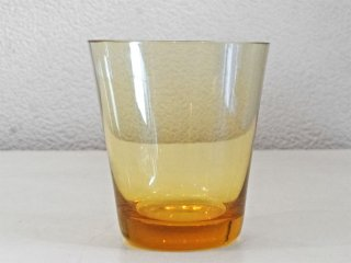 レイミューラ Reijmyre マンボ Mambo ビンテージ ガラスタンブラー クリアイエロー 1950-60s  スウェーデン グラス 北欧ガラス ◇