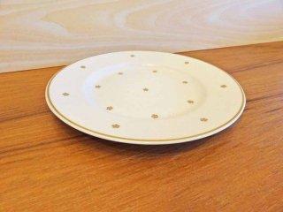 アラビア ARABIA フィンランド プレート 皿 金彩 雪柄 ルミヒウタレ lumihiutale ビンテージ 北欧食器 Φ17.5cm ◇