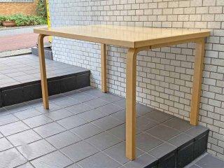 アルテック Artek テーブル80B バーチ材 アルヴァ・アアルト 北欧家具 フィンランド ダイニングテーブル ■