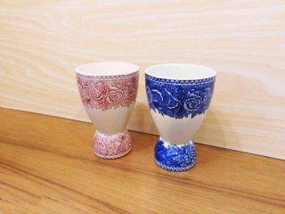 アラビア ARABIA ランドスケープ Landscape ダブルエッグカップ Double Egg Cup 2個セット ラインハルト・リヒター Reinhard Richter ビンテージ ◇