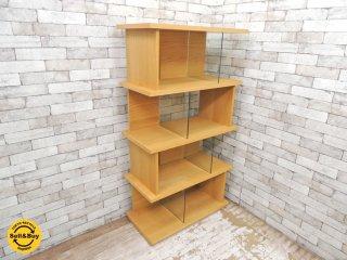 ウニコ unico パラレ PARALLE トールシェルフ tall shelf 5段 W800 オーク材 ガラス 廃盤 ナチュラル ●