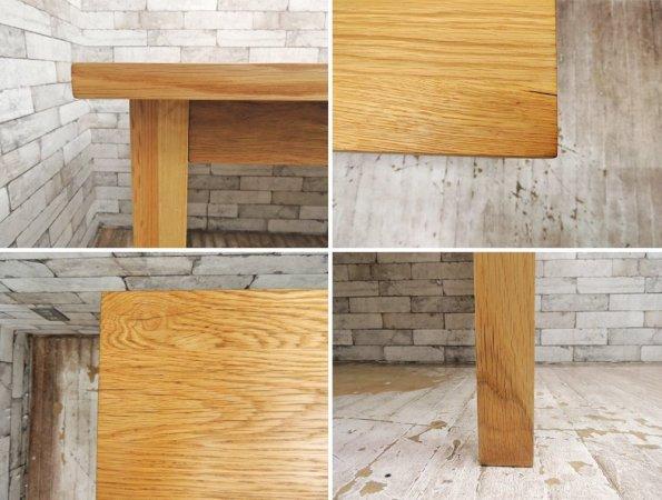 無印良品 MUJI オーク無垢材 ダイニングテーブル ナチュラル 幅180cm ●