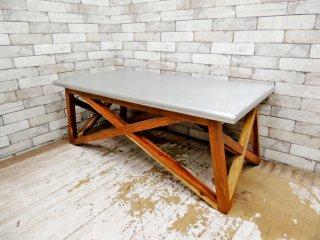 ダブルティー WTW マーベリックス MAVERICKS コーヒーテーブル ローテーブル アルミ天板 参考価格 \52,800- ●