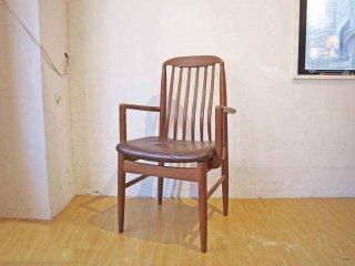 ベニー リンデン BENNY LINDEN ビンテージ チーク無垢材 ダイニングアームチェア デンマーク Dining Chair Denmark ★