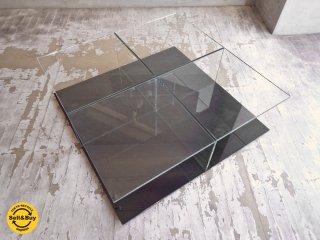 カッシーナ Cassina メックス MEX ローテーブル ガラステーブル 269-01/11 スクエアタイプ ブラック ピエロリッソーニ ♪