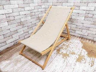 フォブコープ F.O.B COOP 取扱い 折り畳み デッキチェア ガーデンチェア ビーチ材 ●