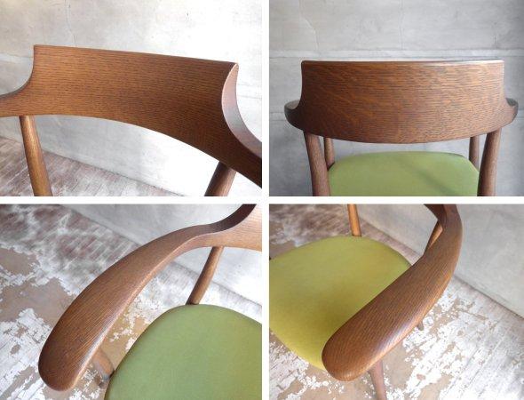 飛騨産業 HIDA キツツキ クレセント アームチェア CRECENT Arm Chair SG260A オーク材 WD色 佐々木敏光 デザイン 定価¥74,800〜 A ♪