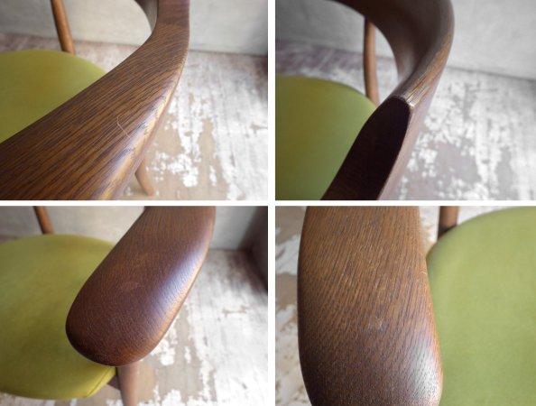 飛騨産業 HIDA キツツキ クレセント アームチェア CRECENT Arm Chair SG260A オーク材 WD色 佐々木敏光 デザイン 定価¥74,800〜 B ♪