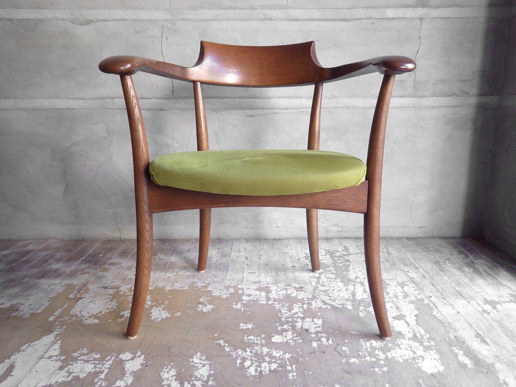 飛騨産業 HIDA キツツキ クレセント アームチェア CRECENT Arm Chair SG260A オーク材 WD色 佐々木敏光 デザイン 定価¥74,800〜 D ♪