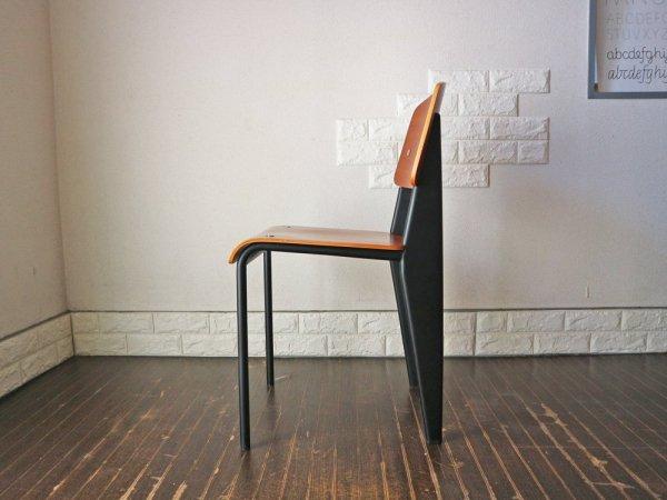 ジャン プルーヴェ スタンダードチェア Standardchair リプロダクト オーク × ブラック ◎