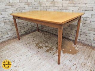 ナチュラルデザイン 伸長式 ダイニングテーブル EXテーブル オーク材 抽斗2杯付 ●