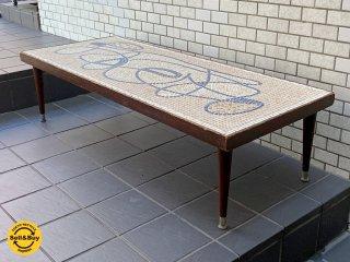 USビンテージ タイルトップ天板 リビングテーブル コーヒーテーブル 米国 アメリカ ■