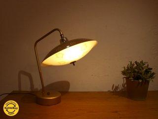 US ビンテージ デスクランプ  Desk Lamp ミッドセンチュリー デスクシェード型 2灯 ランプ 角度調整可 デスクライト Desk Light ★