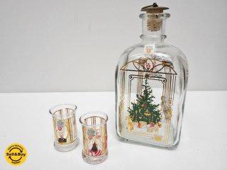 ホルムガード holmegaared クリスマスボトル ツリー プレゼント ショットグラス セット 1991年 デンマーク ●