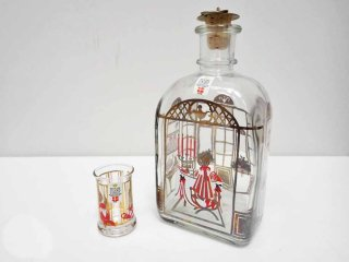 ホルムガード holmegaared クリスマスボトル テーブル 女の子 ショットグラス セット 1989年 デンマーク 箱付 ●