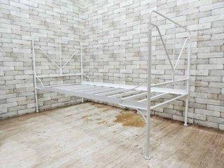フォブコープ F.O.B COOP ベッドフレーム シングルサイズ スチール製 ホワイト ●