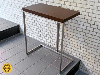 アイデックモダン AIDEC MODERN リム LIMB-70 コンソールテーブル オーク材×ステンレス 片山正通 定価14万 ■