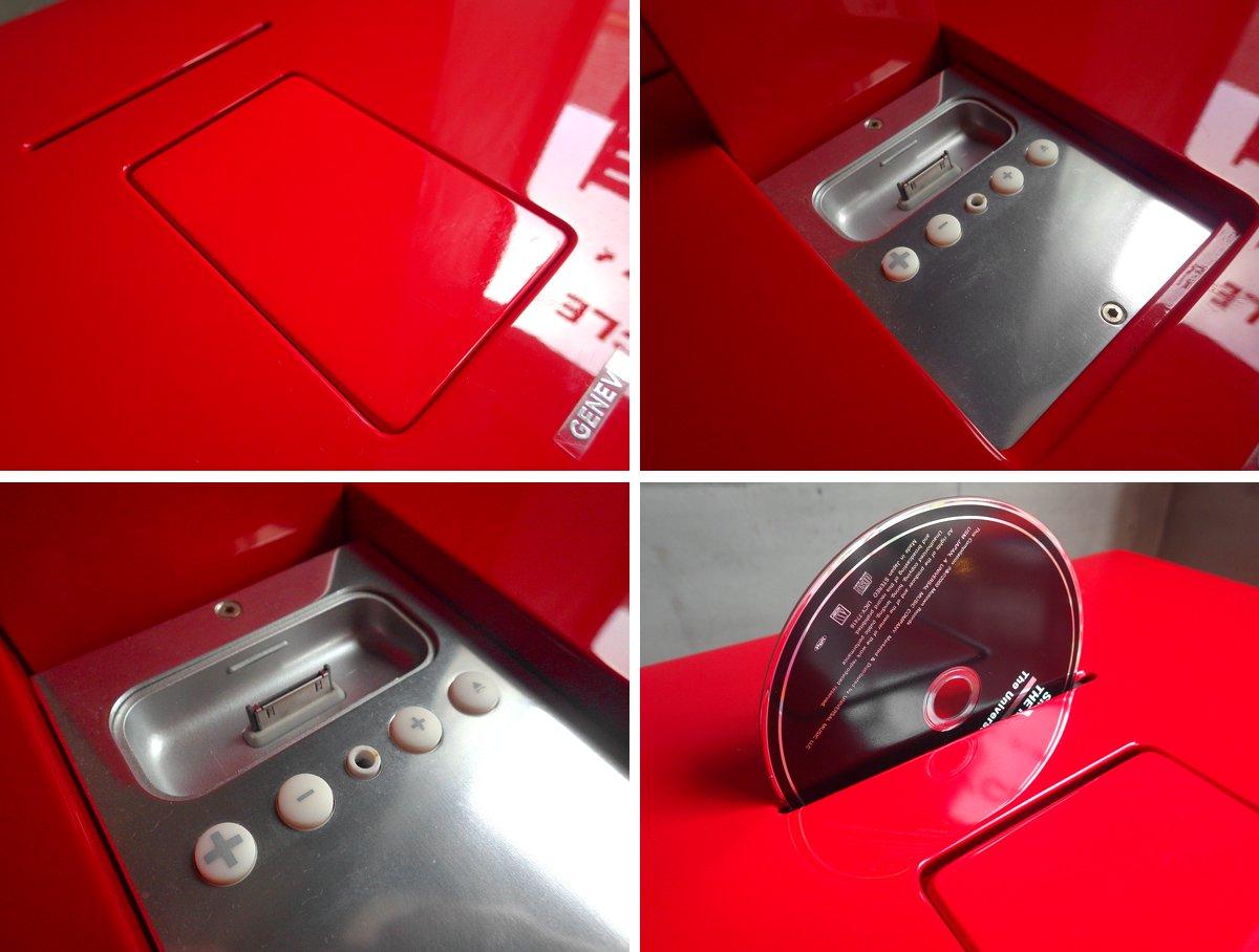 ジェネバ GENEVA サウンドシステム モデル L SOUND SYSTEM MODEL L スピーカー レッド 専用スタンド付き 廃番モデル ♪