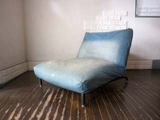ジャーナルスタンダードファニチャー journal standard furniture ロデ RODEZ カバーリング リクライニングソファ 一人掛け デニム生地 ◎