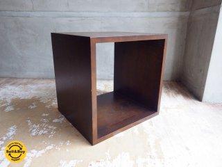 エーフラット a.flat 1ユニットキューブ 1 unit cube v01 アッシュ無垢材 オープンシェルフ 1×1 アジアン ♪