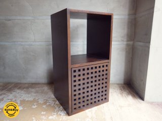 エーフラット a.flat 2ユニットキューブ 2 unit cube v01 + ウッドドロワー Lv01 引き出し付 アッシュ無垢材 オープンシェルフ 1×2 アジアン ♪